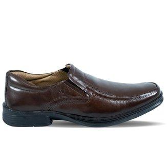 Sapato Rafarillo Masculino Sem Cadarços de Couro Marrom