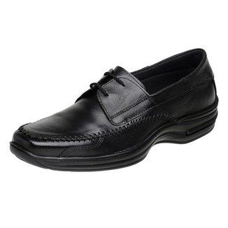 Sapato Sapatilha Casual Roma Shoes Social em Couro  Antiderrapante Masculino