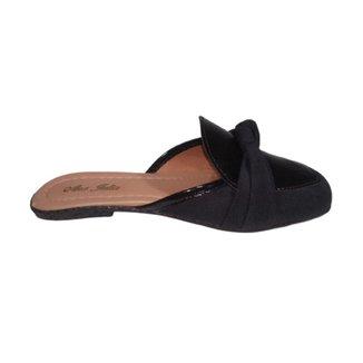 Sapato Sapatilha Feminina Mule Conforto Rasteira Sem Salto