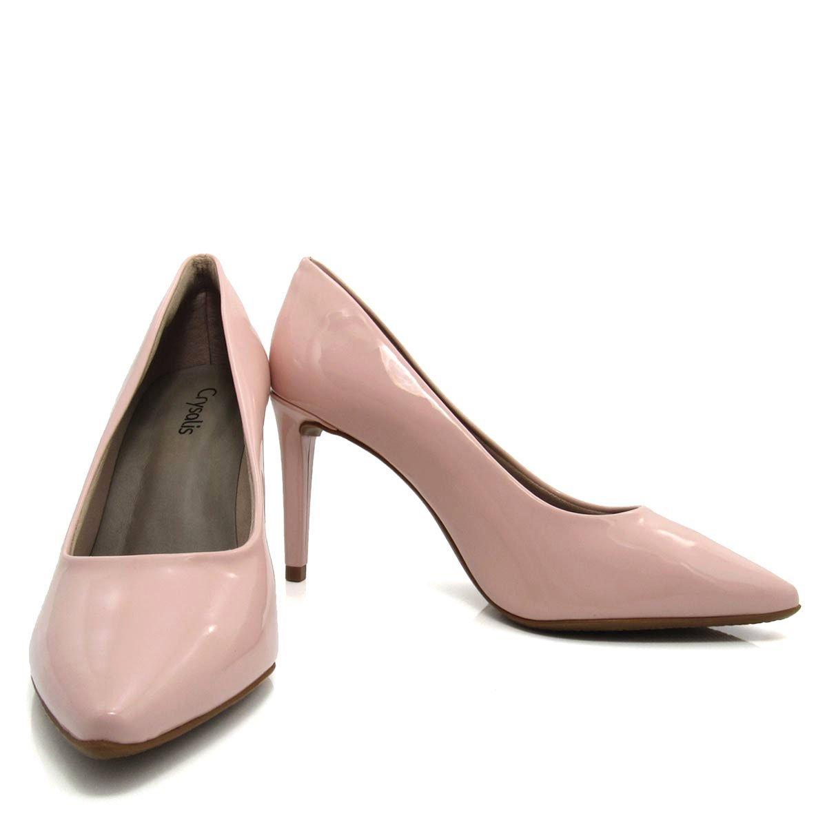 Sapato Bico Rosa Scarpin fino Sapato Feminino Scarpin Crysalis 0Xwq5