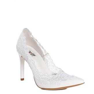 Sapato Scarpin Feminino Zariff Com Renda