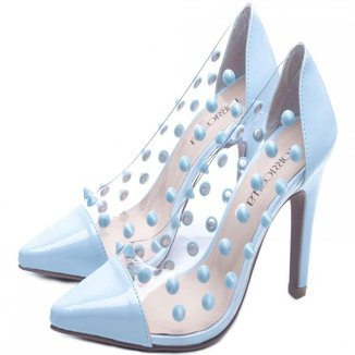 Sapato Scarpin Torricella Salto Fino Azul