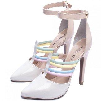 Sapato Scarpin Torricella Salto Fino Off White