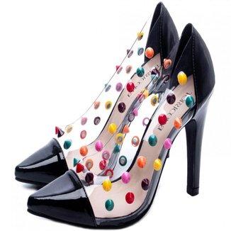 Sapato Scarpin Torricella Salto Fino Preto