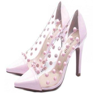 Sapato Scarpin Torricella Salto Fino Rosa