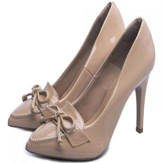 Sapato Scarpin Torricella Verniz Bege