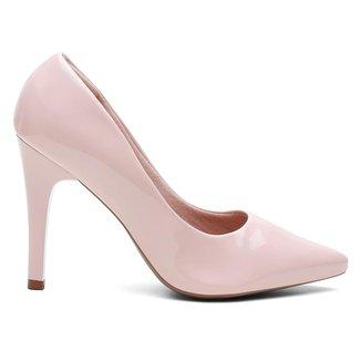 Sapato Scarpin Verniz Salto Alto Fino Leve Conforto Classico