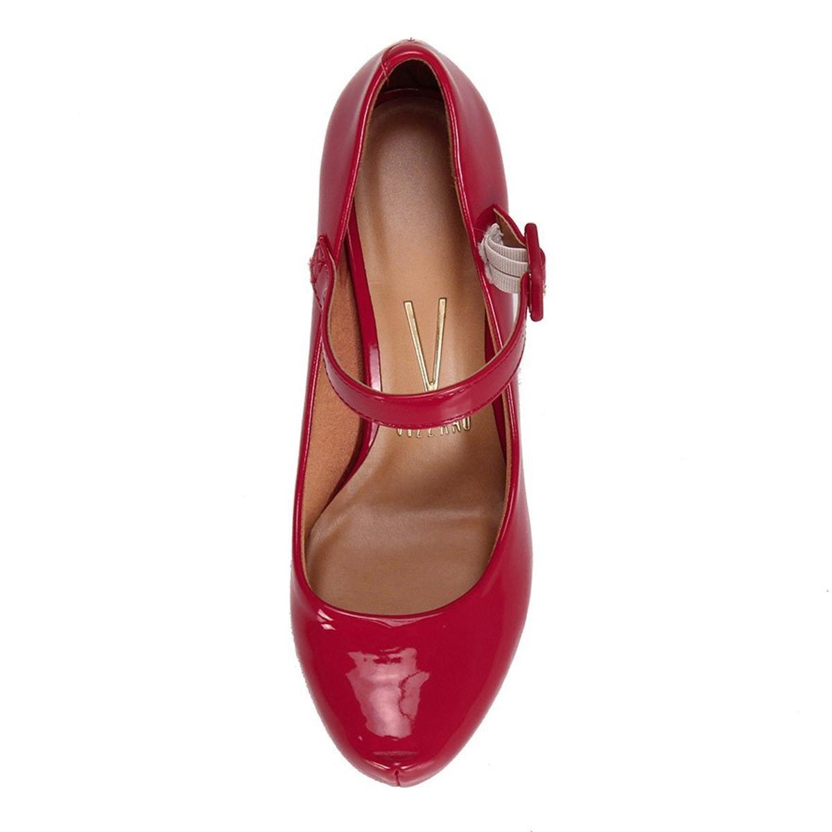Sapato Scarpin Vizzano Boneca Verniz - Vermelho