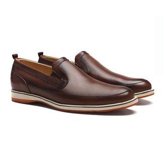 Sapato Sergio's Loafer Casual Masculino Em Couro