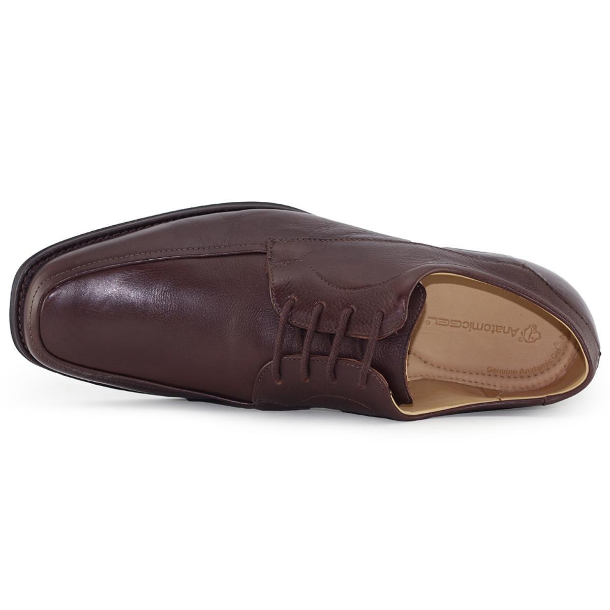 fc12dfd6b Sapato Social Anatomic Gel Elegance Brown Masculino - Marrom Escuro ...