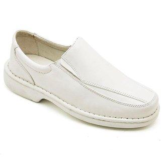 Sapato Social Anti-Stress Masculino Couro Branco Confort - 2001