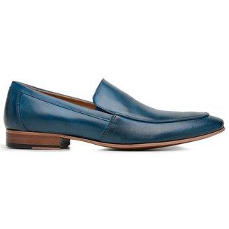 Sapato Social Azul Couro 58854