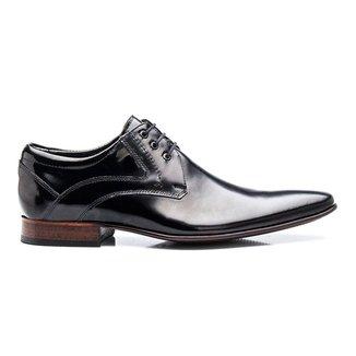 Sapato Social Bigioni Amarrar Couro Verniz Legítimo Masculino