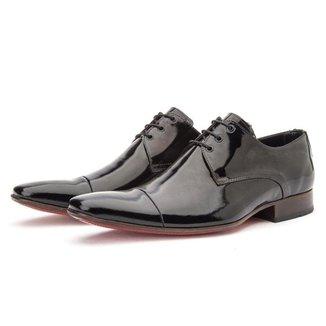 Sapato Social Bigioni Derby Verniz Preto 43
