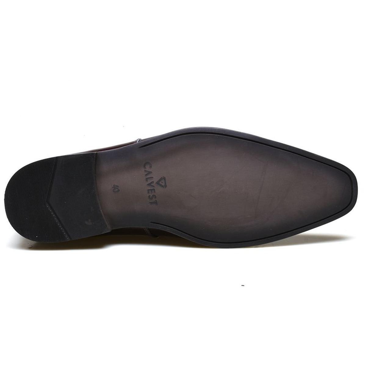 Couro Social Calvest Bordô Sapato em Sapato Social Verniz qRxE6Xcw