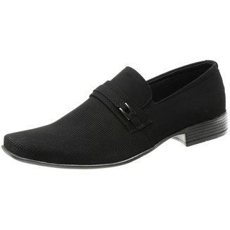Sapato Social Camurça Masculino Solado Antiderrapante Elástico