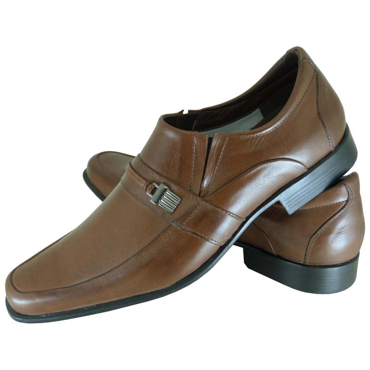 Social Social Cancun Sapato Sapato Stefanello Metal com Marrom com Cancun nIxP1qxg