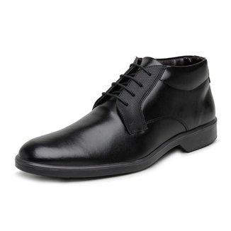 Sapato Social Casual Cano Médio Masculino Com Detalhe