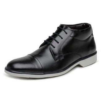 Sapato Social Casual Cano Médio Masculino Liso De Amarrar