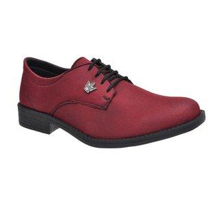 Sapato Social Casual Masculino Oxford Marsala