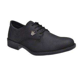 Sapato Social Casual Masculino Oxford Preto