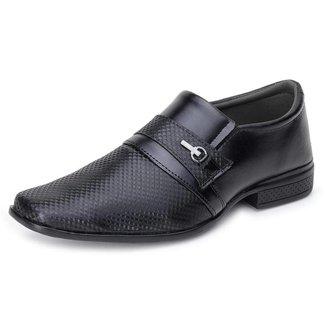Sapato Social Casual Masculino Textura e Detalhe Recorte