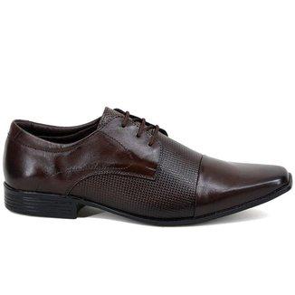 Sapato Social Cla-Clê Masculino Couro Confortável Dia a Dia
