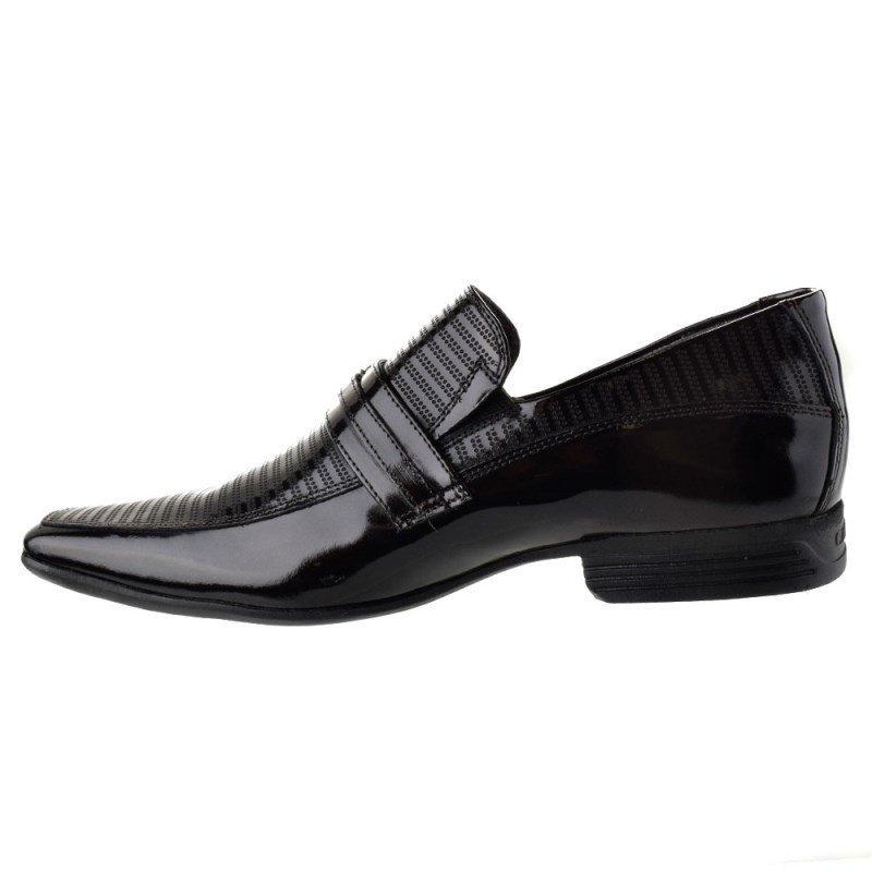 Calvest Social Masculino Preto Sapato Sapato Clássico Verniz Social pcIWOnTqRw