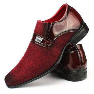 Sapato Social Clássico Masculino Ziper externo Leva Conforto