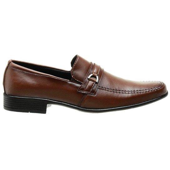 Sapato Social Classico Nobuck Masculino Capuccino - Castanha