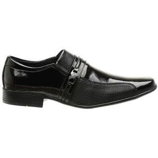Sapato Social Classico Verniz Masculino Preto