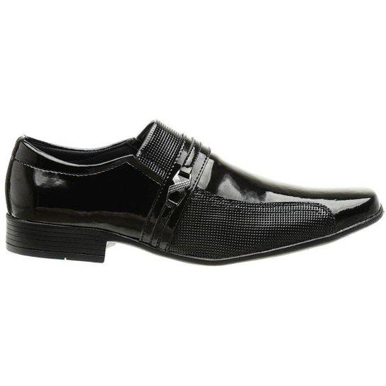 Sapato Social Classico Verniz Masculino Preto - Preto