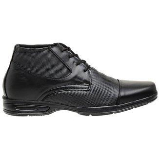 Sapato Social Confort Couro Masculino Leve