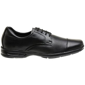 Sapato Social Confort Couro Masculino