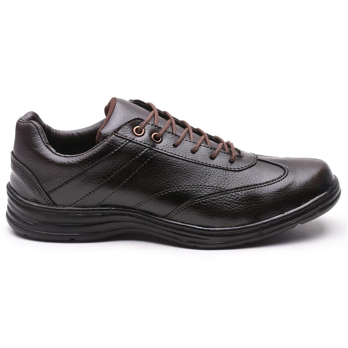 Sapato Social Confort Leve Versales 2677 Masculino - Café