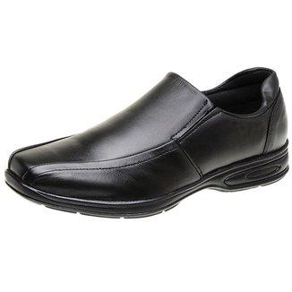 Sapato Social Confort Masculino Derradeiros Couro Cafe Lizo