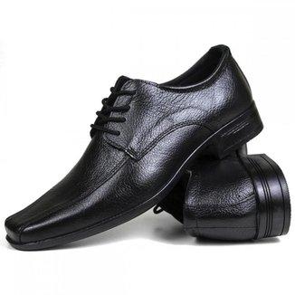 Sapato Social Confort Masculino Floater Couro Preto