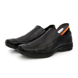 Sapato Social Conforto Palmilha Gel em Couro Masculino