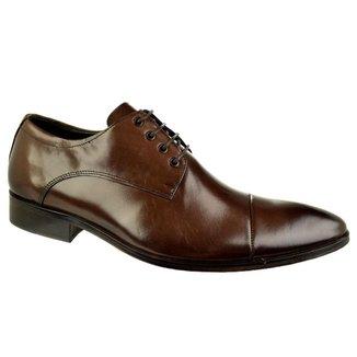 Sapato Social Constantino Class Marrom Cadarço 44