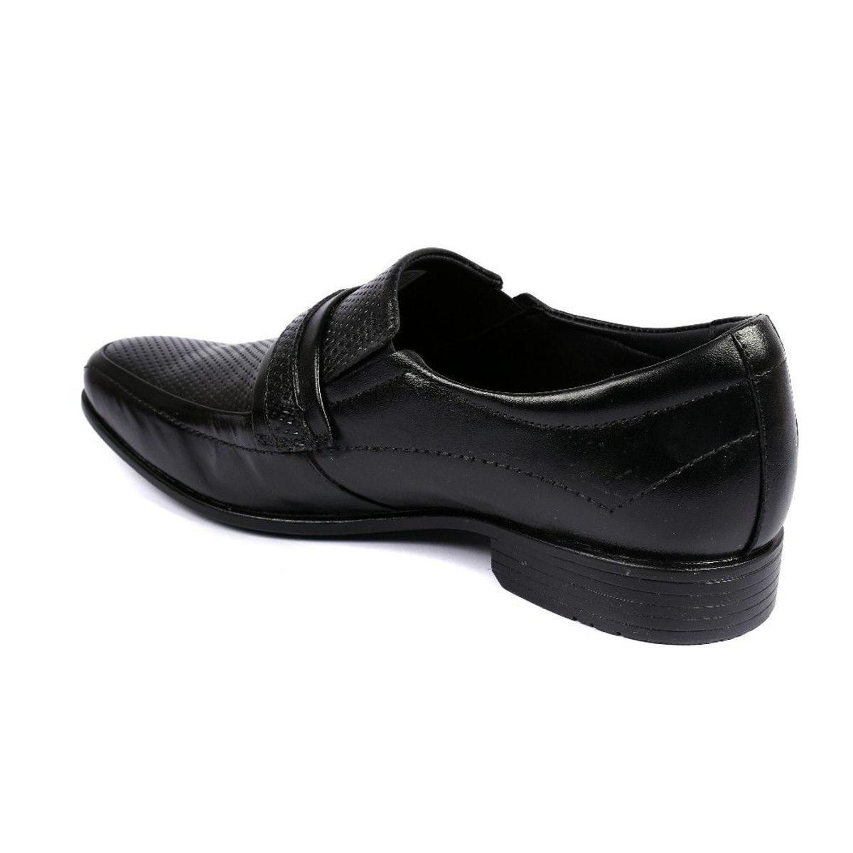 Sapato Social Couro 3ls3 Masculino - Preto