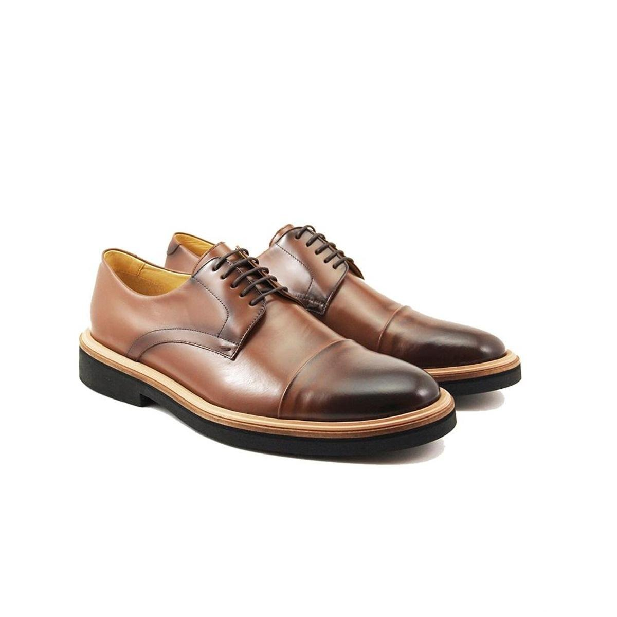 12ec35fa4 Sapato Social Couro Adolfo Turrion Confort Masculino - Marrom - Compre  Agora