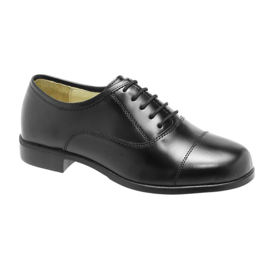 Sapato Social Couro Alto-brilho , Solado Borracha. - Preto