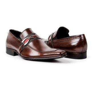 Sapato Social Couro Bigioni Fivela Masculino