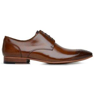 Sapato Social Couro Caramelo Wood 60068