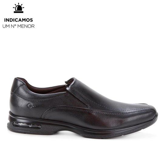 Sapato Social Couro Democrata Air Spot Masculino - Preto