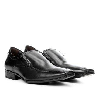 Sapato Social Couro Democrata Bico Quadrado Masculino