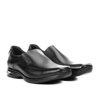 Sapato Social Couro Democrata Smart Comfort Air Spot Masculino