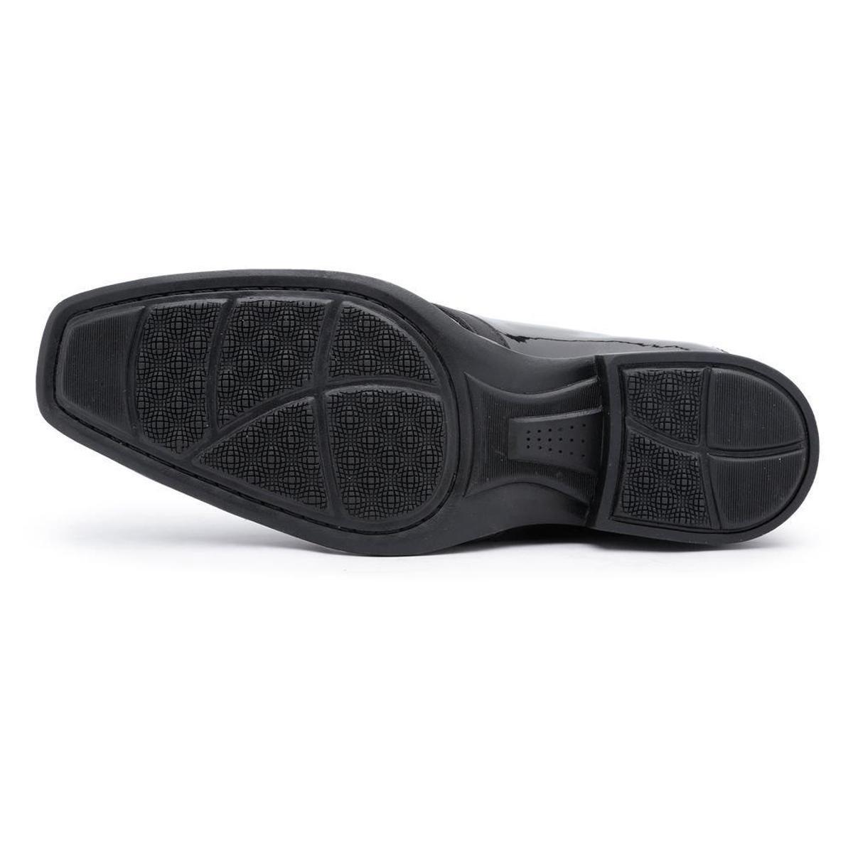 Sapato Sapato Couro Preto Social Ruggero Ecológico Masculino Social r5prB
