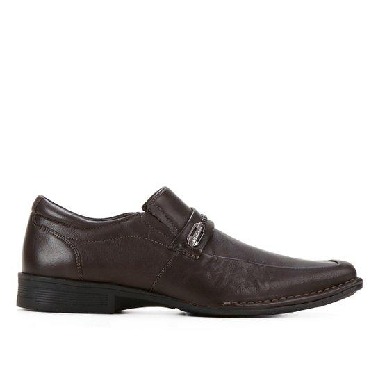 Sapato Social Couro Ferracini Ambience Masculino - Marrom