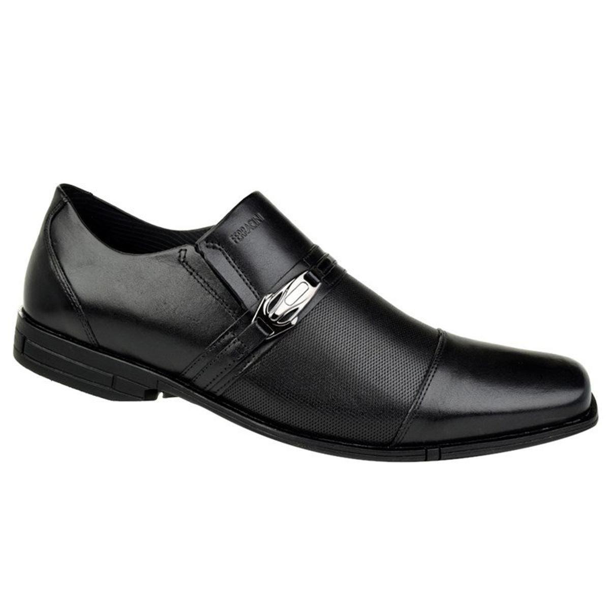 Ferracini Masculino Preto Couro Ferracini Bristol Sapato Bristol Social Couro Sapato Social v6z0qq
